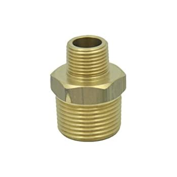 Pack of 5 1in NPT Male to 1//2in NPT Female Reducing Adapter Hex Head Pipe Fitting