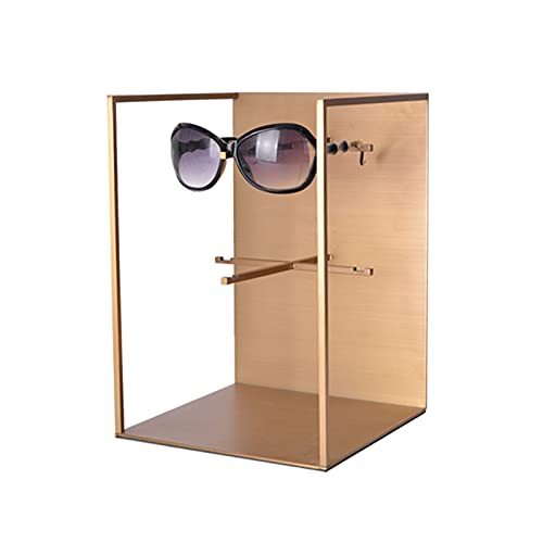 soporte para gafas Gafas de sol de oro de acero inoxidable Soporte de gafas de sol Pantalla de gafas de rack para hombres Showcase de presentación de colección de exhibiciones de mujeres