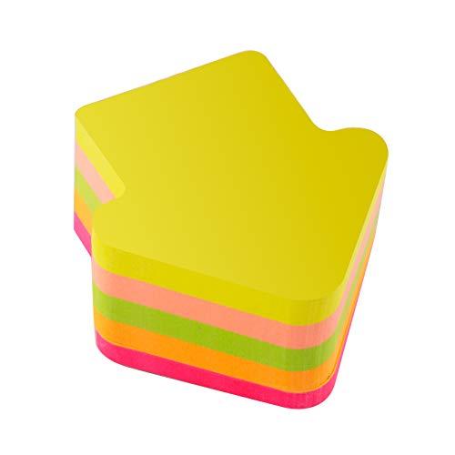 D.RECT 110513 Haftnotizwürfel Super Sticky Notes Selbstklebende Haftnotizzettel Klebezettel bunt zettel farbig Notizblöcke für Büro, Haus und Studenten, 70x70mm Pfeil Neon 400 Blatt