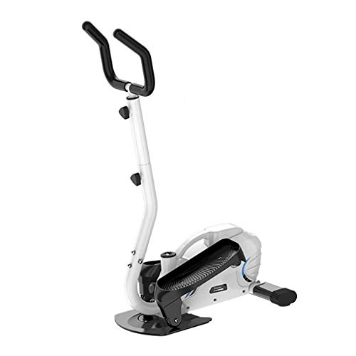 Vélos elliptiques Bicicleta Estática Máquina Elíptica Silent Mini Stepper Space Walker Pequeño Equipo De Fitness Interior Carga 120 Kg (Color : Blanco, Size : 43 * 67 * 130cm)