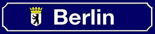 FS Straßenschild Berlin Bundesland mit Blechschild Schild gewölbt Metal Sign 10 x 46 cm