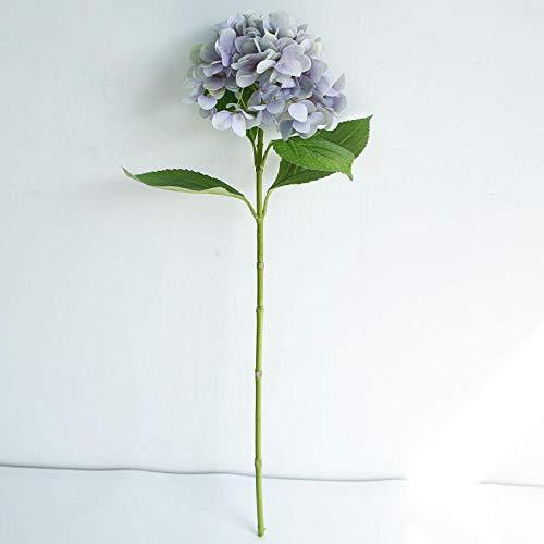 YYCVVH Flor Artificial Hortensia 3D Decoración del hogar Accesorios de Boda Sosteniendo Flores Flor Artificial en Maceta Flor Artificial-Púrpura 5 Palos