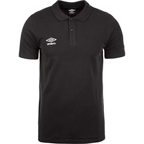 UMBRO Pique Poloshirt Herren schwarz, M