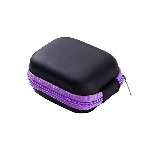 Dragonaur Portable Huile Essentielle Porte-Bouteille Petit Sac de Voyage Stockage pour 6 Bouteilles Huile Essentielle 5 ml violet violet