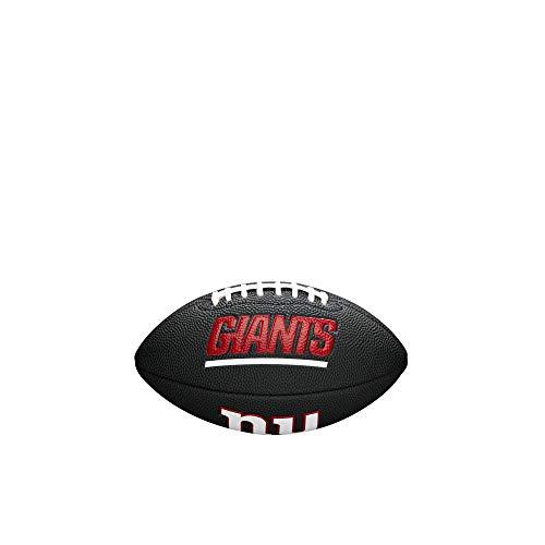 Wilson WTF1533BLXBNG Pelota de fútbol Americano Mini NFL Team Soft Touch New York Giants para Juego recreativo, Unisex-Adult, Negro