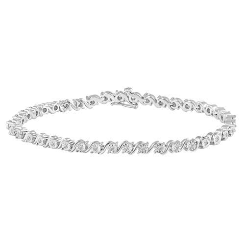 1/3 Carat tw Natural Diamond Tennis Bracelet in 925 Sterling Silver