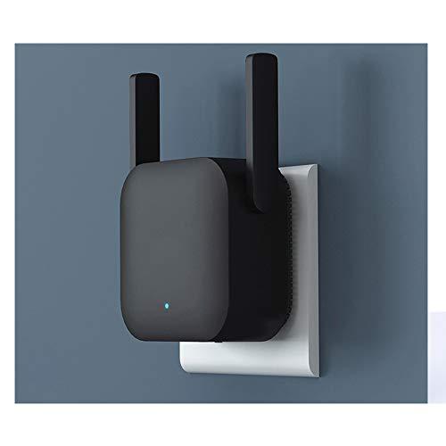 H.L Mejora de la señal del Amplificador WiFi Enhanced Repetidor inalámbrico recibiendo la expansión de enrutamiento de Red Negro