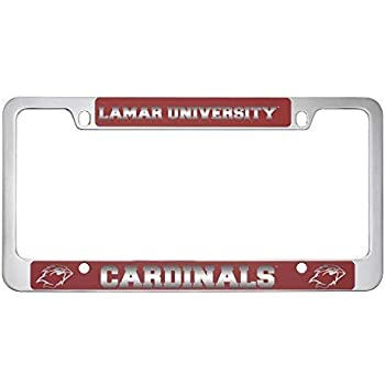 WinCraft Bloomsburg University Alumni Premium License Plate Frame Chrome Plated Metal with Inlaid Acrylic
