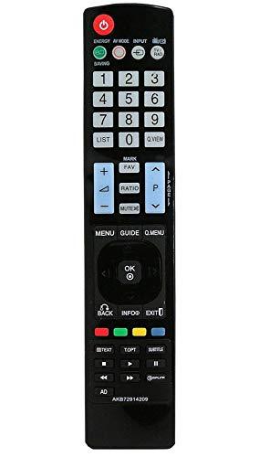 allimity AKB72914209 Ersatz-Fernbedienung passend für LG TV 42LD550 46LD550 52LD550UB 42LE7300 47LD420 32LD450 37LD450 42LD450 47LD630 47LD520 55LD630 47LD650UA 52LD550 42LE7300 47LE7300