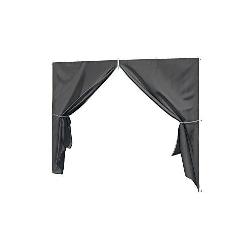paramondo Seitenwand-Tür mit Reißverschluss für Faltpavillon Basic oder Premium anthrazit