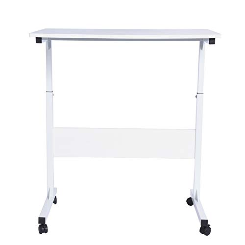 Computer Desk With Wheels -computer Desk White -Adjustable Laptop Cart White Computer Desk Office Notebook Stand Children Study Writing Table