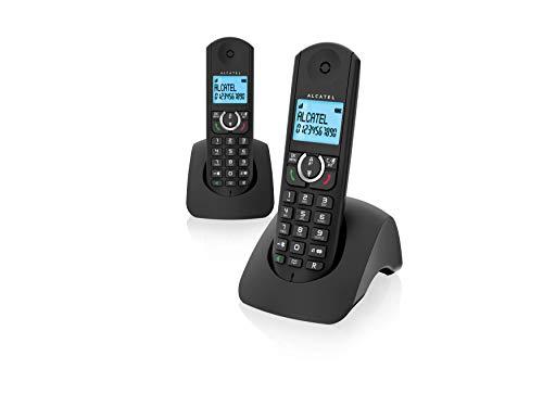 Alcatel F380s Duo - Teléfono Fijo, Color Negro