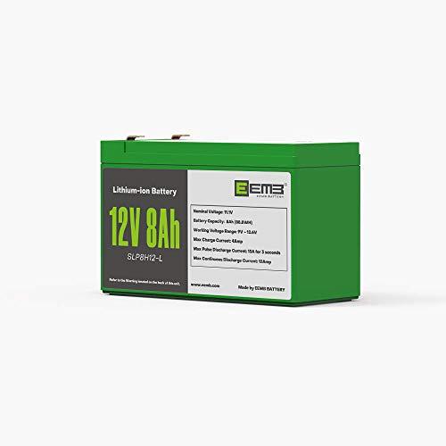 EEMB 12 V 8AH ciclo profundo batería recargable de iones de