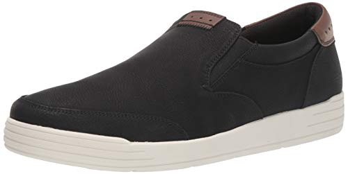 Nunn Bush Men KORE City Walk Moccasin Toe Sneaker Style Slip On Loafer Shoe, Black, 13 M US
