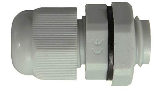 Sucre Auxiliary ® Kabelverschraubungen – wasserdicht IP68 Kompression (M10, Grau, 10)