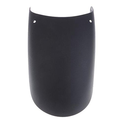 P Prettyia Extensión de Guardabarros de Extensión Frontal Universal para Motocicleta Negro