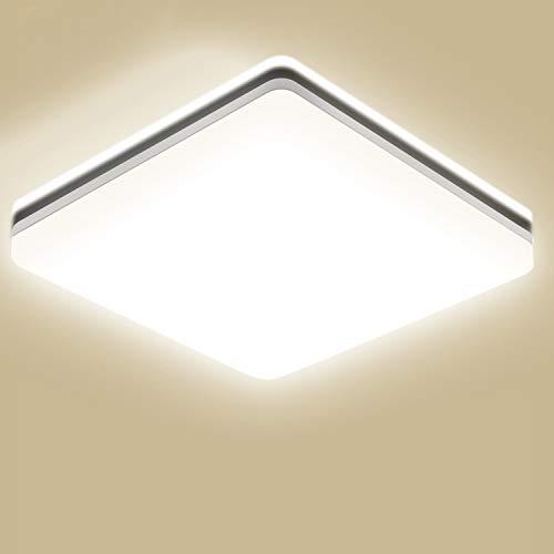 Oeegoo 15W LED Deckenleuchte Bad, 1500LM Flimmerfrei Badezimmerlampe (ersetzt 100W Glühbirne), Ideale Feuchtraumleuchte für Wohnzimmer, Küche, Balkon, Flur, Badezimmer usw.