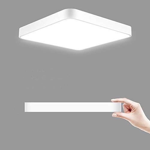 Plafón led techo, 36W 50x50CM Blanco frio Plafón led - 6000k LED Lámpara de Techo Moderna, LED luz de techo Cuadrado, Ultra Delgado Downlight para Sala de estar Comedor Balcón