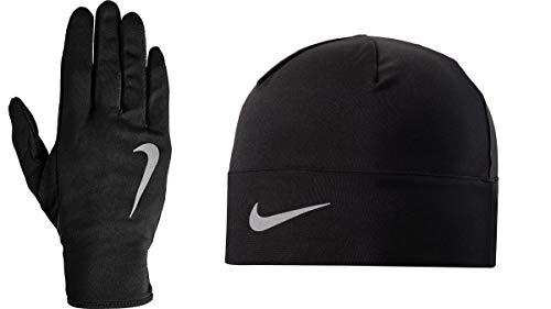 Nike Herren Run Dry Hat undGlove Handschuhe Und Mütze Set, Anthracite/Volt/Silve, S/M