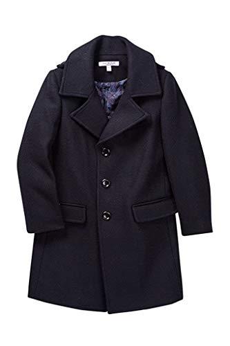 Isaac Mizrahi Boy's CT1013 Single Breasted Wool Overcoat - Navy - 14