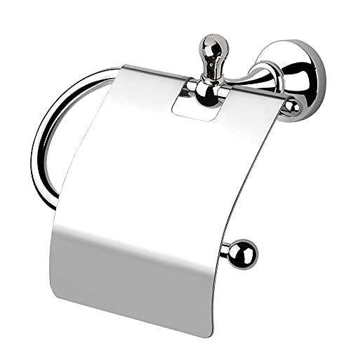 Portarrollos con tapa hibisco, accesorios de baño, fabricado en Italia