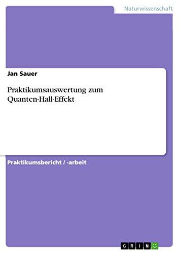 Praktikumsauswertung zum Quanten-Hall-Effekt