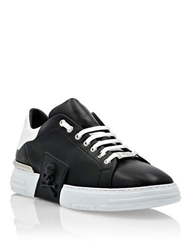 Philipp Plein Herren Lo-Top Sneakers Phantom Kick$ Skull Schwarz 42