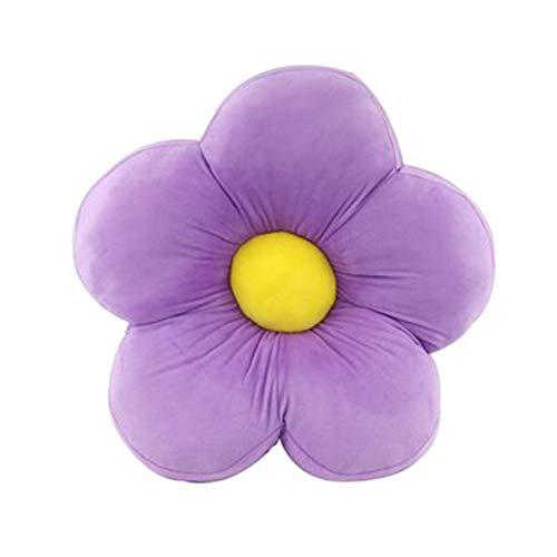 LPL Cojín del Asiento de la Almohada del Piso de la Flor, Cojín para niñas para Leer, Dormir o Mirar televisión,Púrpura,90 * 90CM