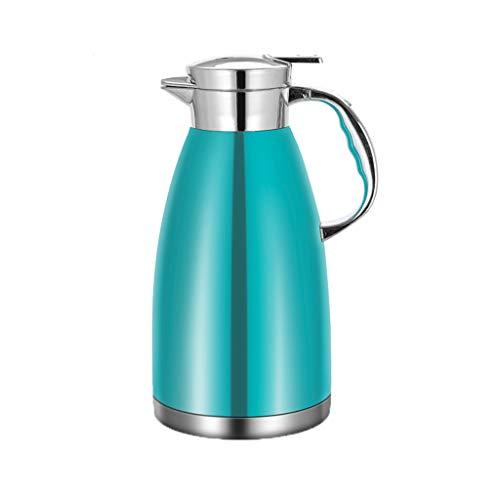 Aoyo Edelstahl-Isoliertopf, Haushalts-Isolierkessel-Kaffeekanne, Thermos-Wasserflasche Mit Großer Kapazität(Color:Blau)
