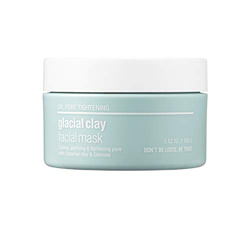 [SKIN&LAB] Glacial clay mask with Canadian glacial clay, pore tightening, controlling sebum, soothing, deep cleansing 100g, 3.5oz…