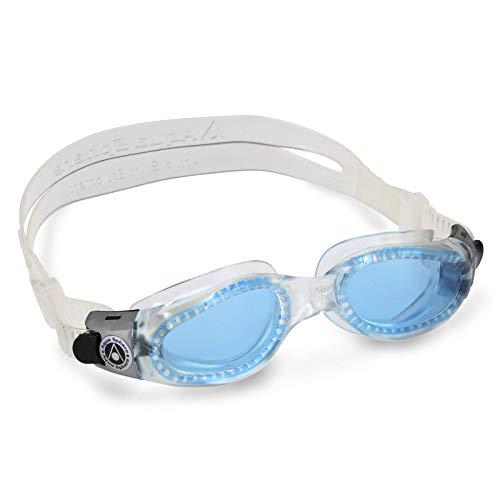 Aqua Sphere Kaiman Compact Fit Schwimmbrille, transparent/blaues Glas, Einheitsgröße