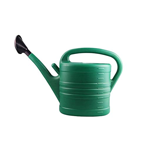 HEMFV Green Large Household Watering Can Plastic Comfortable Grip Gardening Tools Smooth Surface Glitch-Free Garden Essential (Size : 5L)