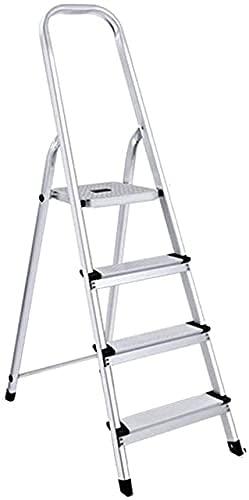 XIAOYU MultifunzioneNegnalgineering 4 Step Ladder, Multi-Functional SideDed Scaletta Dormitorio Scaletta Bookstore in Lega di Alluminio Stepladders, 43 * 83 * 143 cm (Dimensione: 43 * 83 * 143 cm)