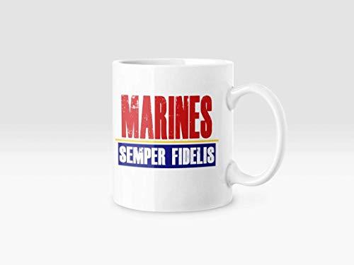 N\A Taza de café de té Marines Semper Fidelis para su papá, mamá, Esposo, Esposa, Hermano o cumpleaños, Aniversario, Taza de 11 oz
