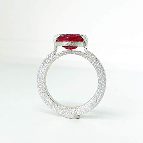 Impresionante anillo para hombre con magnífico Ruby CERTIFICADO de diámetro 9,75 mm y 5.65 quilates, realizado totalmente a mano en Plata de ley.
