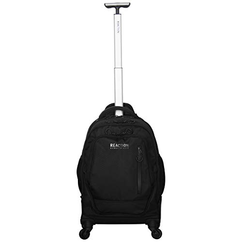 Kenneth Cole Reaction 17' Polyester Dual Compartment 4-Wheel Laptop Backpack, Black