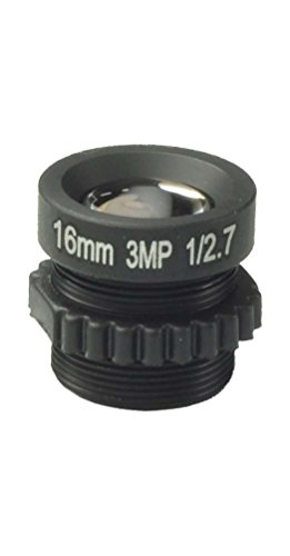 "1/2.7"" CCTV 16mm 1080P Lens Long Angle for Security Camera Suitable for 1/3"",1/4"" CCD & COMS Chips"