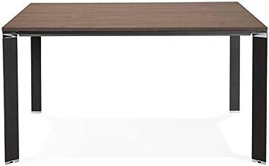 Paris Prix - Table De Bureau Carrée Design loina 140cm Noyer