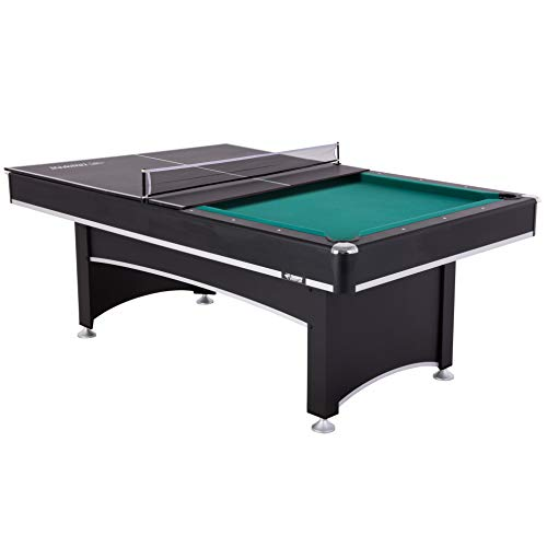 Triumph Phoenix 7' Billiard Table with Table Tennis Conversion Top for a Game of Pool or an Action-Packed Table Tennis Match