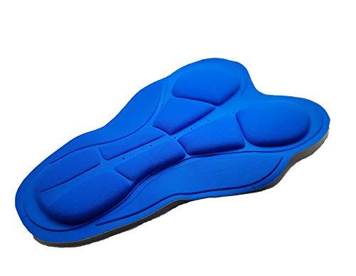 Fondello / fondo 3D MultiDensity, densità 120, in gel, per culotte / pantaloncini da ciclismo, antibatterico e antiparassitario, mod. 2852c