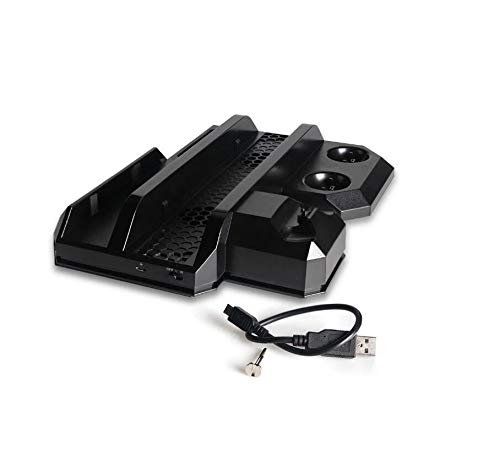 WXJHA 2020 Console Verticale Multifonctions récent Cooling Stand PS4 Pro / PS4 Slim / PS4 PS Move PS4 Controller Station de Chargeur VR Showcase Holder