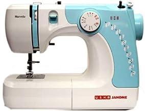 Usha Janome Marvela 60-Watt Sewing Machine (White/Blue Decals)