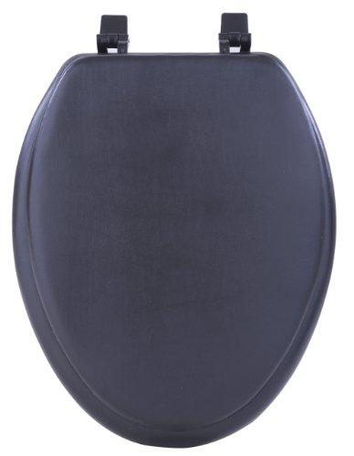 Achim Home Furnishings Black TOVYELBK04 19-Inch Fantasia Elongated Toilet Seat, Soft