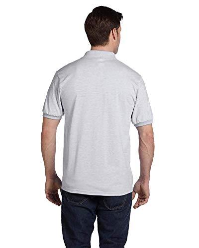 Hanes Adult ComfortBlend EcoSmart Jersey Polo Shirt, Ash, XX-Large
