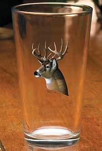 Whitetail Deer Portrait Mixer Glasses by Michael Sieve