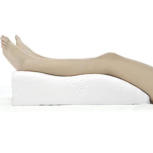 Almohada para Piernas para Sensación de descanso con funda lavable, Almohada Apoyo de Piernas ideal para usuarios con problemas de circulación sanguínea en las piernas, Almohada Antiácaros
