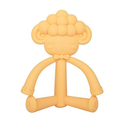 Tvvudwxx - Mordedor de oveja, juguetes para dentición para bebé suave de grado alimenticio de silicona molar juguete para baby shower regalos