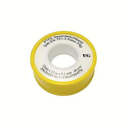Gewindedichtband Rolle 12mm x 0.1mm x 12m (60 g/m²)