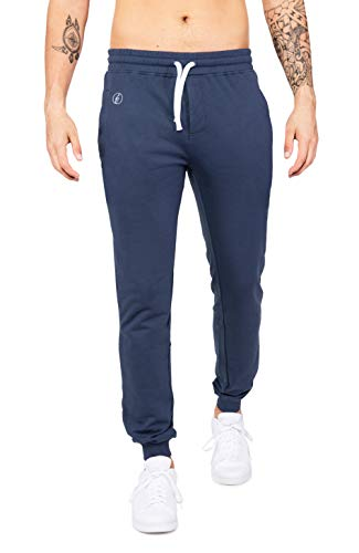 Banqert Herren Jogging-Hose, lang-e Sporthose-n, Jogging Hose-n, Männer Jogger Pant-s Sporthose-n Slim-fit Sweatpant-s Trainingshose-n, Dunkel-Blau, M