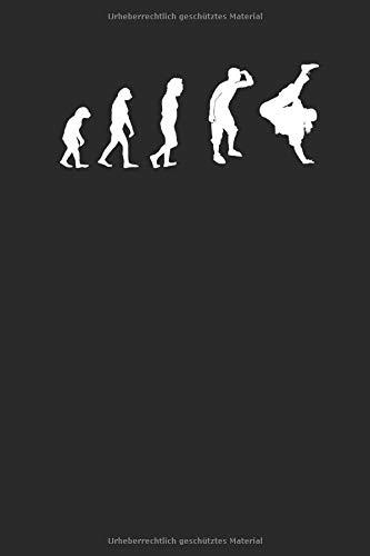 Evolution Tanzsportart Tanzen: Notizbuch DIN A5 I Dotted Punkteraster I 120 Seiten I Sportart Tanzsport Paartanz Tanz Tänzer Tanzlehrer
